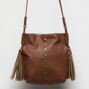 Simple Chic Brown Tassel Crossbody Bag